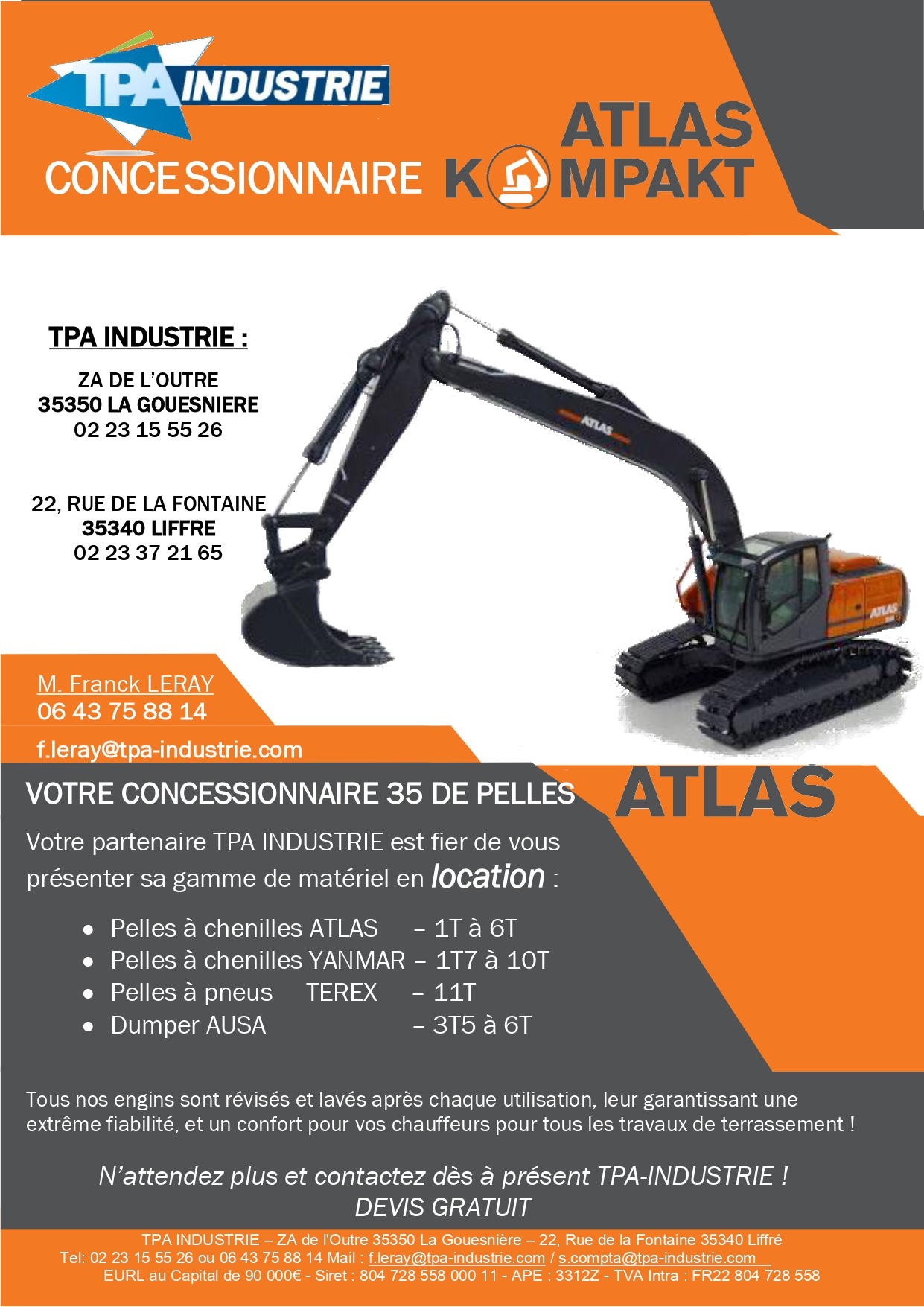 LOCATIONS TPA INDUSTRIE LIFFRE